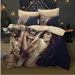 3D sugar skull Bedding Set queen skull duvet cover