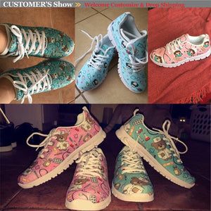 Brand Design Sugar Skull Printing Sneaker for Women Breathable Casual Outdoor