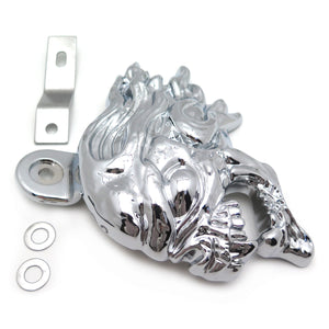 Motorcycle Parts Horn Cover for 1992 and up Harley-Davidson with side mount all V-rod's Chrome