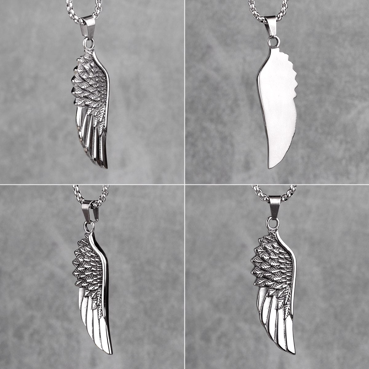 Angel Wings Animal Mens Long Necklaces Pendants Chain Punk