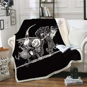 The Nightmare Before Christmas Jack Skull Sherpa Blanket  Plush