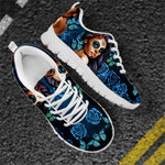 Shoes Women Flat Sneakers Day of the Dead Print Casual Lace-up
