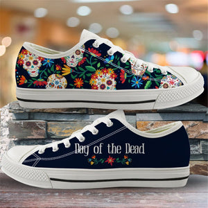 2020 Women Vulcanized Shoes Sugar Skull