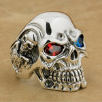 Vintage skull ring Gothic punk Biker Skeleton stainless steel ring
