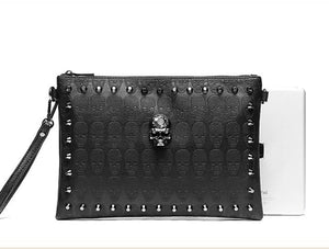 Skull Clutch Envelope Handbag Casual Purse Bag