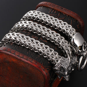 Skull Wolf Lion Head Bracelet Stainless Steel Men's Friendship Animal Bracelets