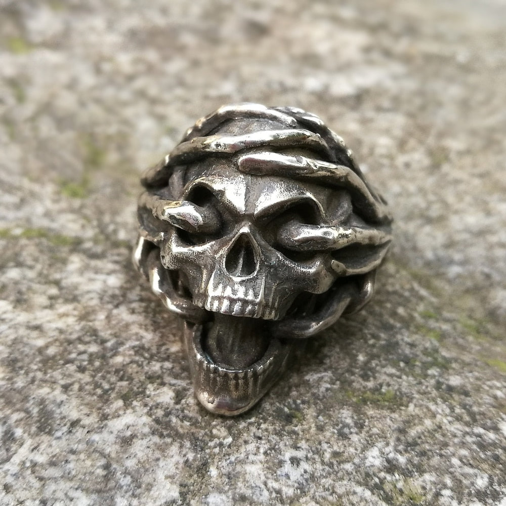 Skull 316L Stainless Steel Ring Biker Jewelry Men's Gothic Skull Rings