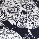3Pcs Black And White Duvet Cover With Pillowcases Sugar Skull Bedding