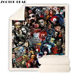 Horror Movie Blanket Plush Adults Best Selling Sherpa Bedspread Blanket