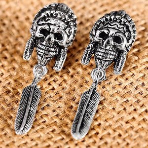 925 Sterling Silver Earrings For Men Indian Vintage Punk