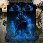 3d sugar skull Bedding Sets king size Skull duvet cover set
