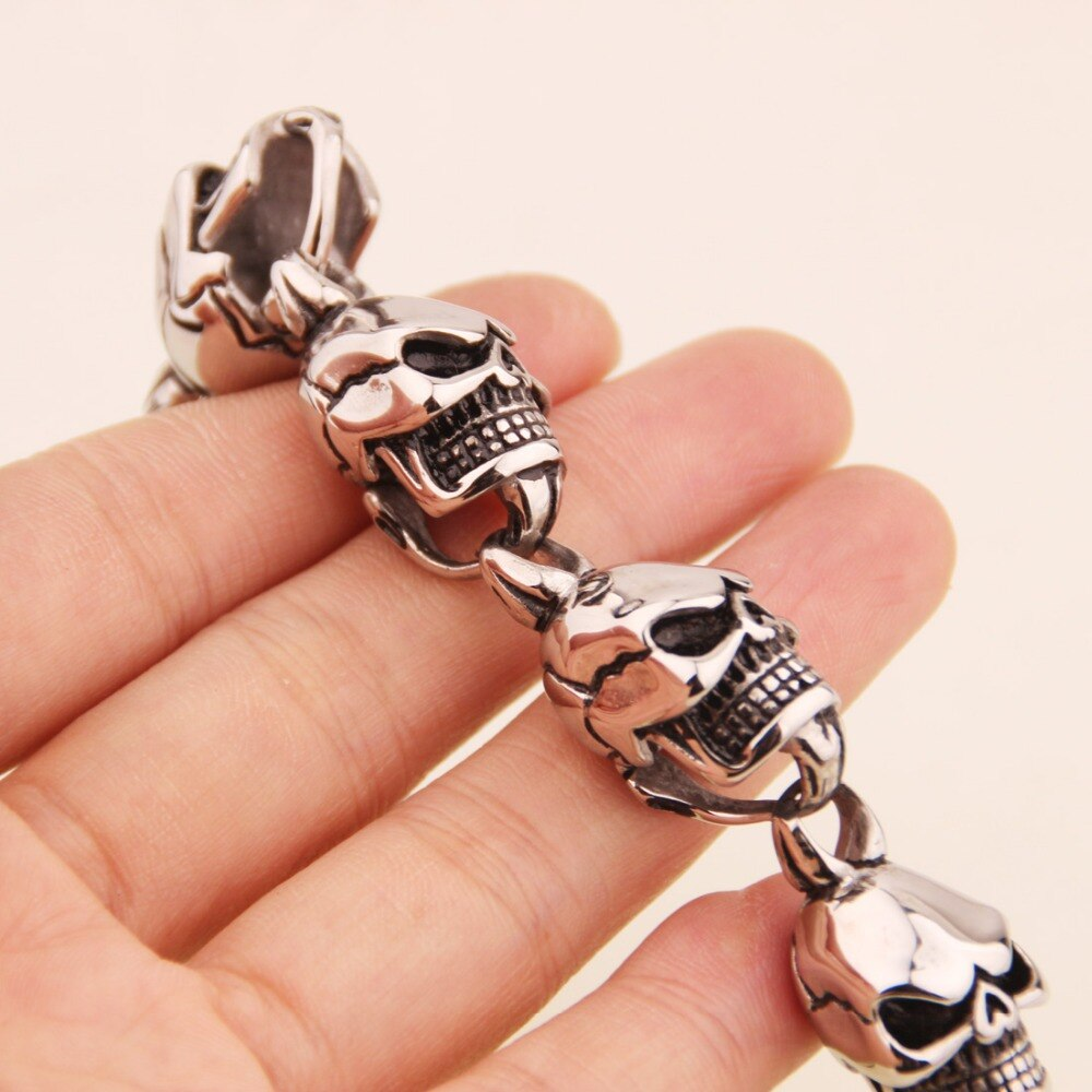 15mm Hip-hop Stainless Steel Silver Color And Black
