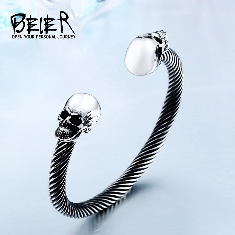 New Cool Punk Skull Bracelet For Man 316 Stainless Steel