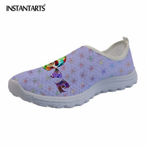 Hipster Flower Skull Printing Women Casual Flat Shoes