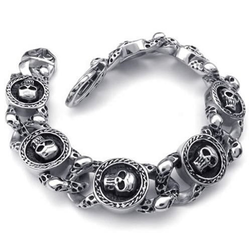 Women's Gothic Luxury Jewelry Stainless Steel Silvery Black
