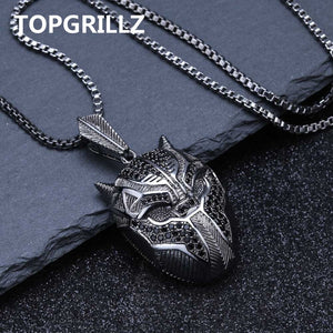 Hip Hop Black Panther Iced Out Pendant Necklace