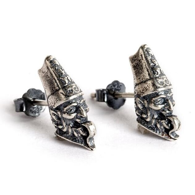 New 2020 Gothic Skull Ghost Vintage Earring Real Antique 925 Sterling