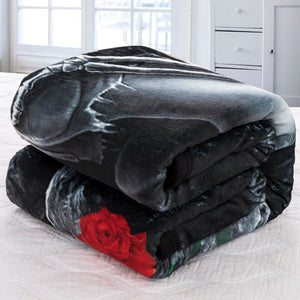 Moto Beauty Skull Thick Blanket Soft Fleece Throw Blankets