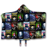 The Nightmare Before Christmas Jack Skull Printed Hooded Wearable Blanket