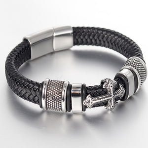 Classical Multi-layer Handmade Leather Chain Weaved Man Bracelets