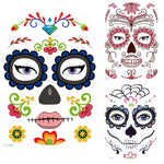 1 PC Halloween Temporary Face Art Tattoo Beauty Skull Tatoo Sugar
