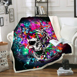 Sugar Skull Blanket Throw Fleece Warm Blanket Boy Home Sherpa Blanket