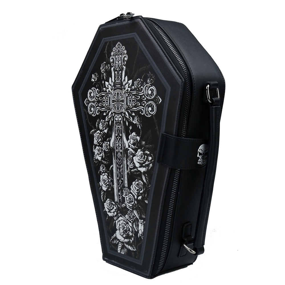 Skull Cross Shoulder Bags Gothic Women Cosplay Handbags