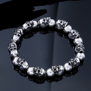 New Cool Punk Adjustable Skull Bracelet For Man 316 Stainless Steel