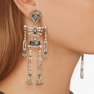 New Fashion Skeleton Skull Earrings