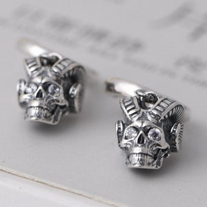 New solid pure S925 silver man earrings vintage 925 silver earrings