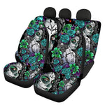 Sugar Skull Design Easy Clean Car Interior Protector Car Seat Covers Front/Back Seat Cover