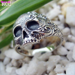 2020 S925 sterling silver jewelry Skull Thai silver ring