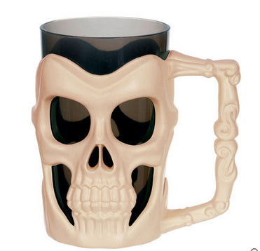 Halloween 3D Skull Skull Mug Coffe Tea Beer Water Bottle Tea Milk Wine Drinking Cup Bar Decor Sugar Storage Cup Home Decor