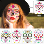 Waterproof Temporary Tattoo Sticker Party Decoration Sugar skull Mask