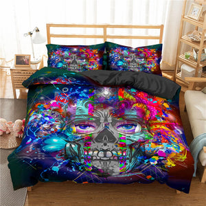 Gothic Skull  Bedding Set Twin Full Queen King Double Sizes Duvet Cover