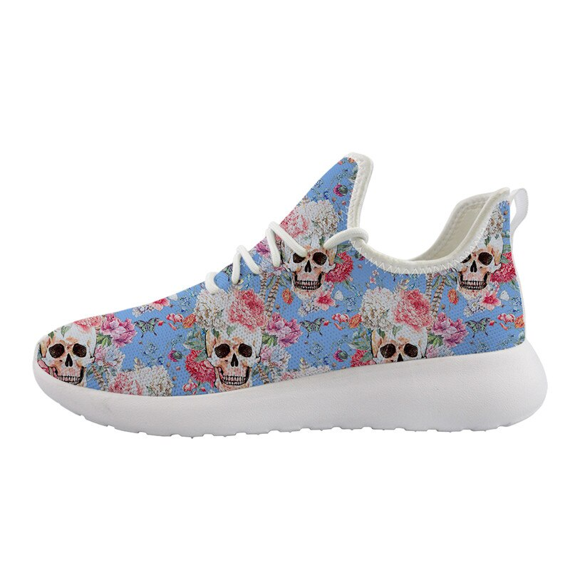 Woman Flats Shoes New Summer Beautiful Skull