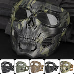 Skull Skeleton Mask Tactical Full Face Mask with Eye Protection Helmet Mask