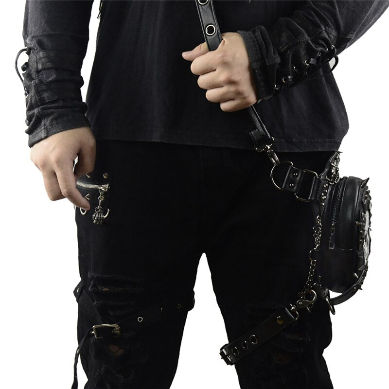 Gothic Steampunk Skull Bag New Women Messenger Bag