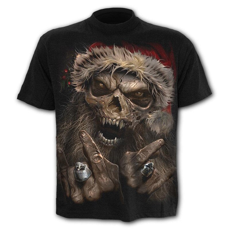 Hot sale new design women men's t-shirt skull street