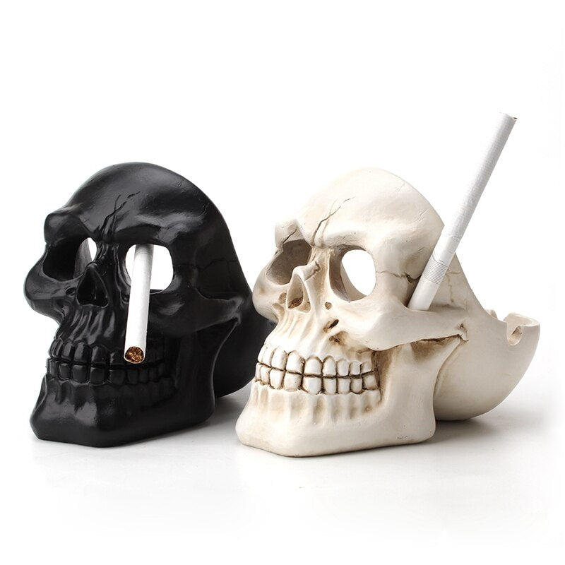 Skull Ashtray Tobacco Ash Box Sculpture Statue Cigarette Ash Container Skull