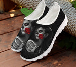 Skull Day of the Dead Black Women's Sneakers Casual Summer