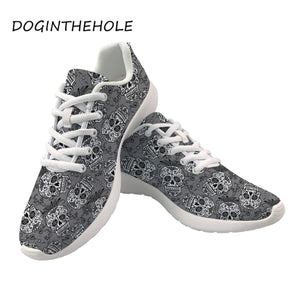 Sneakers Skull Printing Casual Women Flats Shoes