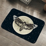 Death Moth Entrance Doormat Gothic Skull Area Rug