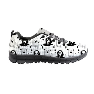 2020 Halloween Pumpkin Pattern For Women Mesh Walking Shoes