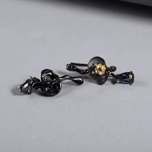 1.26Ct Natural London Blue Topaz Stud Earrings 925 Sterling Silver