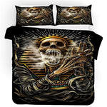 High quality Bedclothes sugar skull bedding sets queen