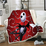 Nightmare before Christmas Cast Boy Plush Blanket 3D Jack Skellington