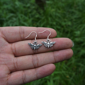 Vintage Dead moth Head Skull Earring Dead Moth Shape Animal