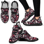 Vintage Classic Sugar Skull Pattern Shoes Woman