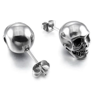 1Pair Cool Color Jewelry Punk Skull Earrings
